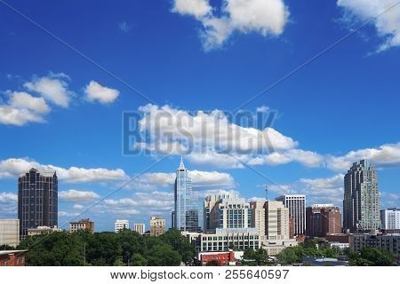 View Of The Skyline In Downtown Raleigh North Carolina
