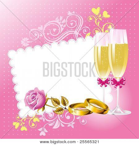 Wedding background in pink tone, vector