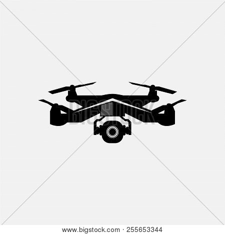 Drone Vector Logo. Drone Modern Icon For Graphic And Web Design. Drone Icon Sign For Logo, Website,