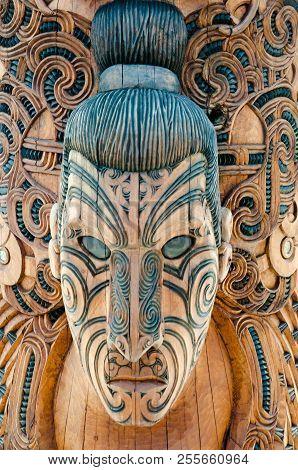Maori Wood Mask - Rotorua - New Zealand