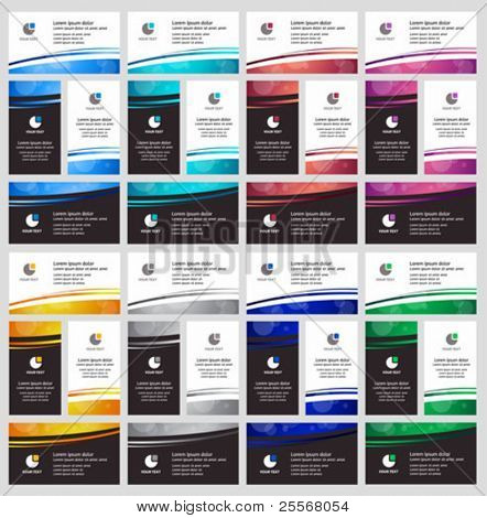Colorful business cards templates stylish collection