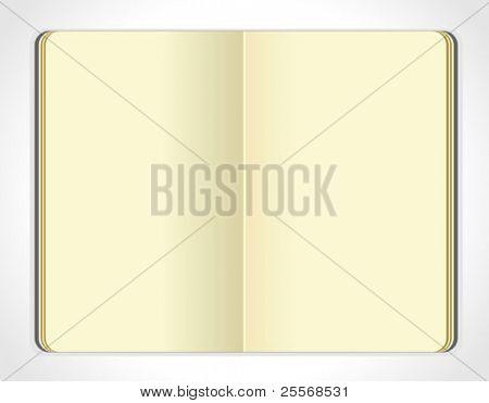 Vector moleskin notebook