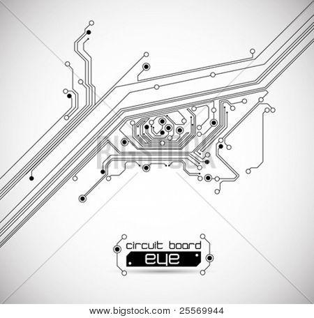circuit board eye background