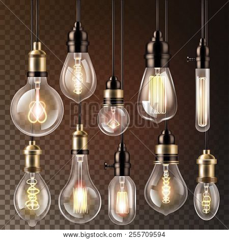 Light Bulb Vector Lightbulb Idea Solution Icon And Electric Lighting Lamp Cfl Or Led Electricity And