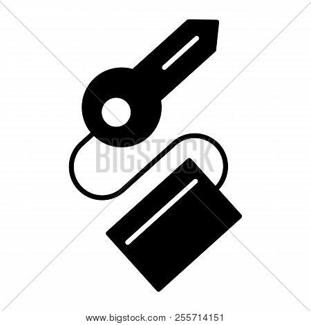 Key Solid Icon. Passkey Vector Illustration Isolated On White. Keychain With Key Glyph Style Design,