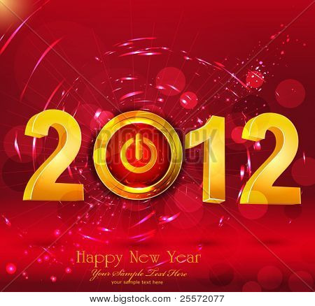 "Abstract vector background New Year, with a button ""power"""