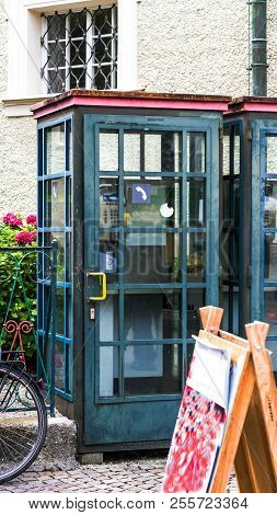 Old Telephone Booths On The Streets Of Salzburg