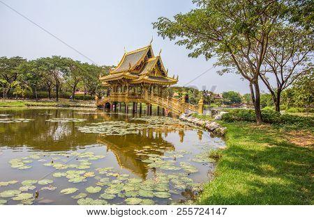 Samut Prakan, Thailand, March, 6, 2017 - The Sala Of Ten Reincarnations In Ancient City Park, Muang