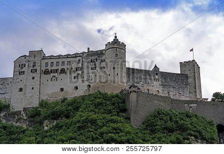 Hohensalzburg Castle (festung Hohensalzburg). Erected At Behest Of Prince - Archbishops Of Salzburg