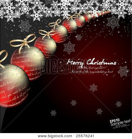 Christmas background for card . Vector.