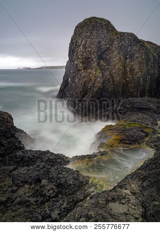 A View From Portbradden Towards The Rathlin Island Done As A Long Exposure.