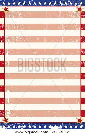 Patriotic grunge background. An american paster for your message.