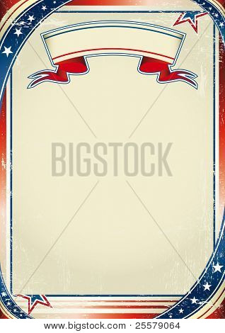 Patriotic US background. An american background for a poster.