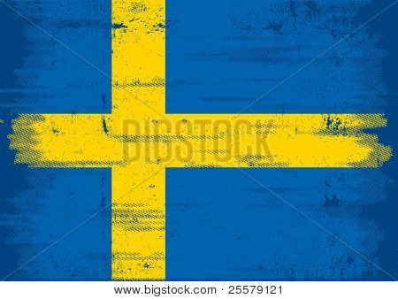 swedish grunge flag An old swedish flag with a texture