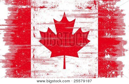 Canadian grunge flag. A canadian flag with a texture.