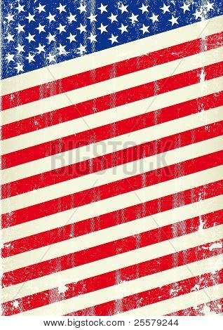 Dirty flag of united states of America. An american flag for a patriotic poster poster