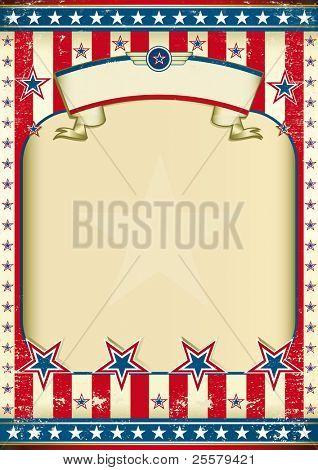 Moldura de grunge americana com fita. Um poster de american vintage tradicional para você