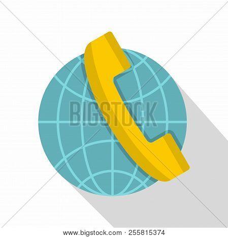 Global Communication Icon. Flat Illustration Of Global Communication Icon For Web Isolated On White