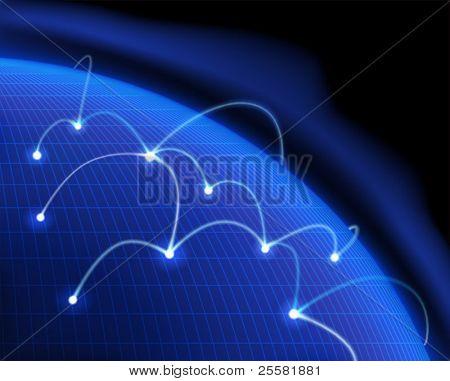 Global communication. Vector illustration.