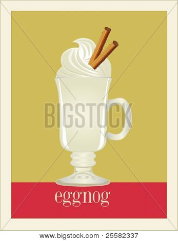 Eggnog poster (easy to remove or change text and colors, layered separately)