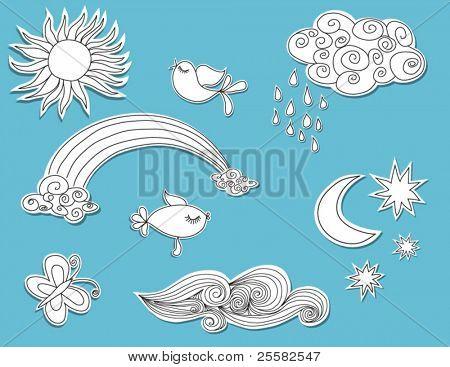 Doodle elements: Nature