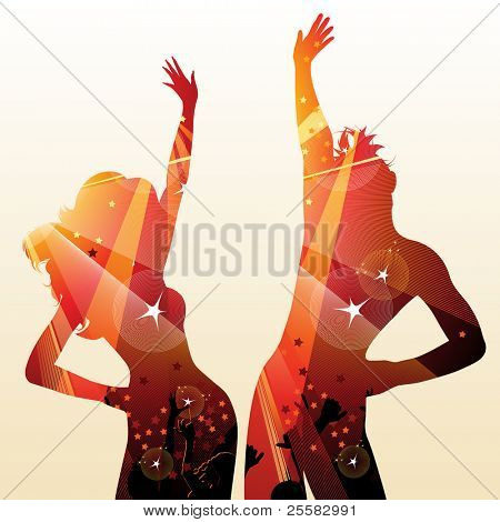 couple on disco poster