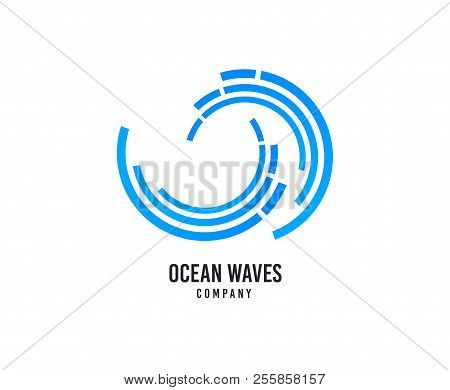 Wave Logo. Surfing Company Vector Icon. Sea Water Waves Logo. Travel Business Brand Sign. Swimming W