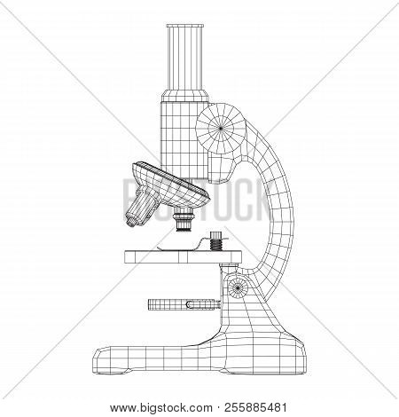 Microscope biology vector photo free trial bigstock microscope biology school laboratory equipment science education symbol wireframe low poly mesh ve ccuart Gallery