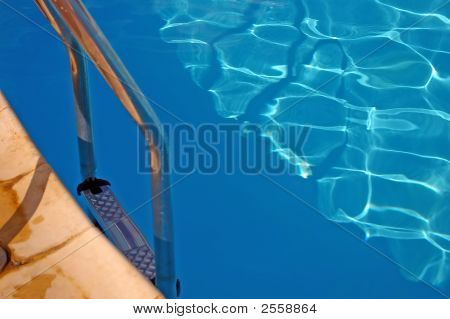 Swimming Pool Ladder In Water