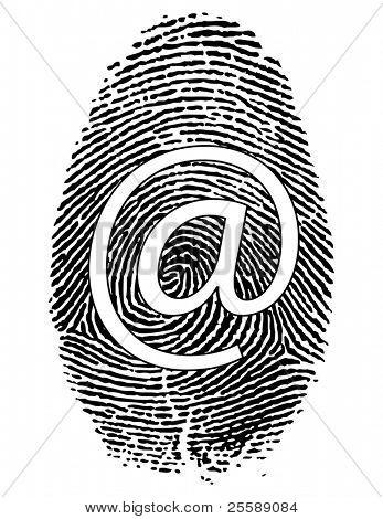 fingerprints with symbol