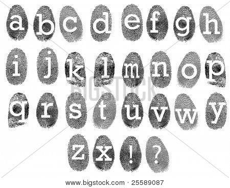 fingerprints with letters on it
