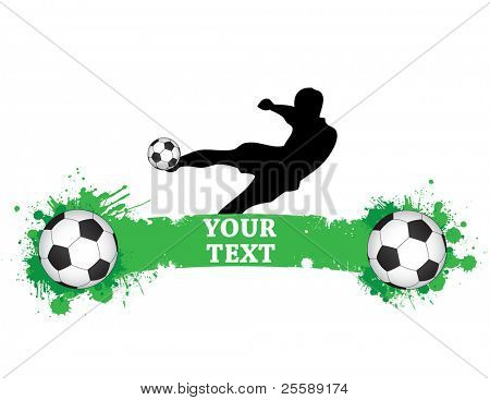 football logo with footballer