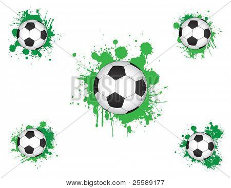 football with splash