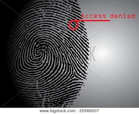scanning fingerprint