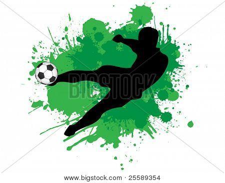 Raster Footballer kicking a ball