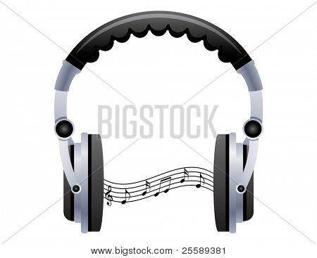 Headphones with soundwave