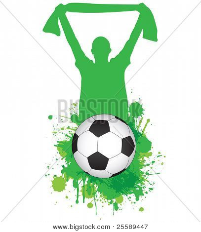 Vector football abstract
