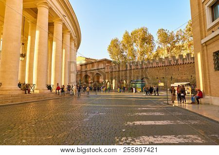 ROME, ITALY - CIRCA NOVEMBER, 2017: Rome urban landscape. Rome is the capital city of Italy.