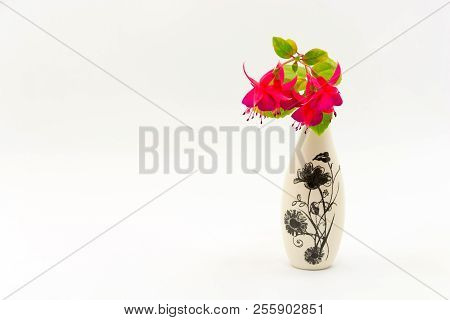 Still-life With Flowers In A Small Vase.