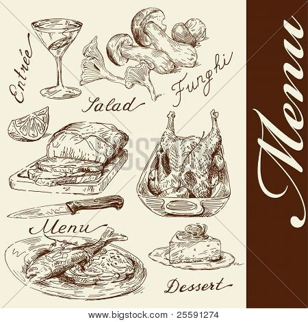 hand drawn menu
