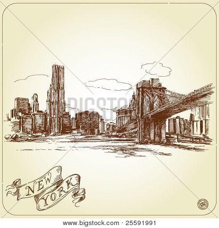 handgezeichnete New york