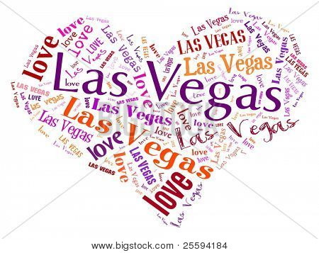 Love heart of  Las Vegas
