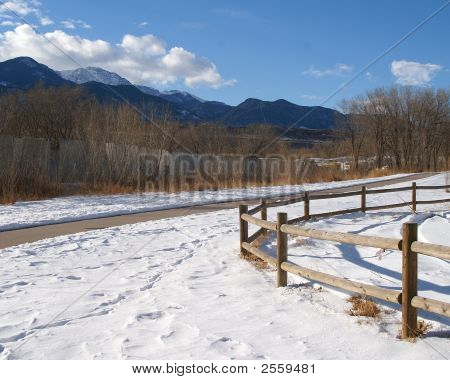 Colorado Springs Trail In Winter