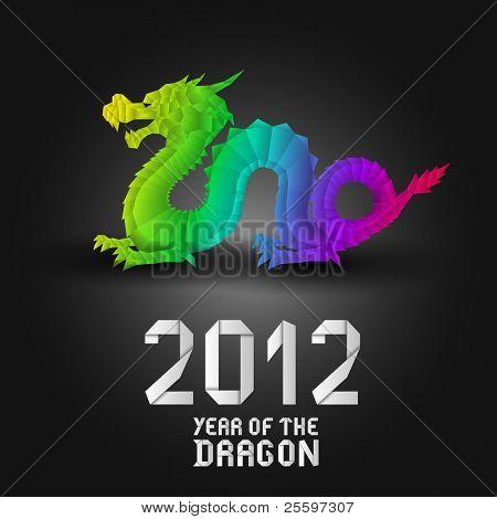 Colorful Origami Dragon