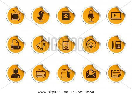 Communication icons | Sticky series