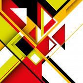 Colorful graphic with geometric abstract shapes. Vector illustration. poster