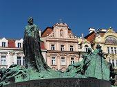 Jan Hus Monument, Prague Old Town Square, Czech Republic poster