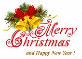 Christmas greetings card. Merry Christmas lettering. poster