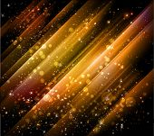 beautiful golden background with shiny particles and lights - JPG version poster