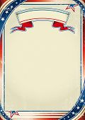 Patriotic US background. An american background for a poster. poster
